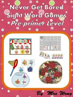 There are 4 games and activities, 'Buying cupcake' 'Jungle Car Park', 'Fishy Acquarium'and 'Making Pizza' to practise sight words in a fun way....