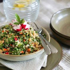 Chickpea tabbouleh from @The Kitchn ::  Apartment Therapy Food