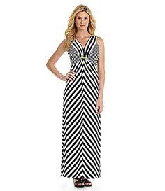 Ruby Rd Chevron Stripe Maxi Dress #Dillards