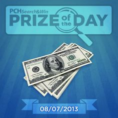 ONE searcher will type something into the search bar at PCHSearch today and be surprised with a $1,000.00 Instant win!