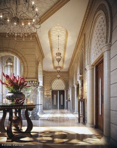 Another gorgeous interior rendering by Muhammad Taher, of a palace in Doha. http://www.mtaher.net
