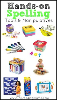 Hands-On Spelling Tools and Manipulatives for Kids (as recommended in my recent ebook, Teaching Kids to Spell)   This Reading Mama