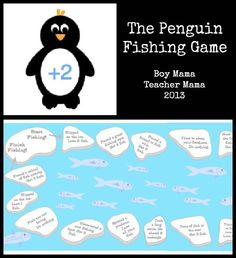 Teacher Mama: The Penguin Fishing Game: A Game About More and Less