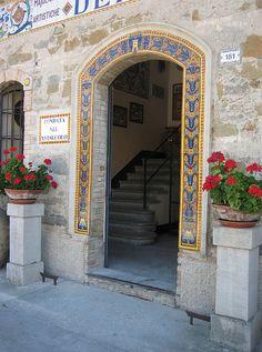 Tiled doorway of the Grazia Ceramics factory, Deruta