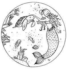 Mermaid - My Little Art Blog...