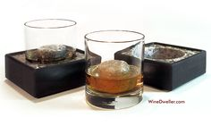 Cool Drink Chiller Glasses, Granite Stones and Coasters - Set of 2!