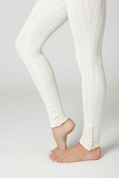 anthropologie cable knit leggings