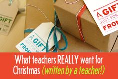 Teachers gifts- practical ideas .. No apples! Christmas Gift