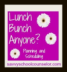 school counseling schedule, school counselor, lunch bunch