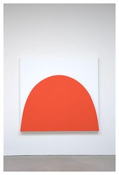 """Ellsworth Kelly, """"White Curve Relief,"""" 2010, oil on canvas, two joined panels, 75 1/4 x 58 3/4"""""""