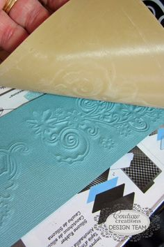 How to use cutting dies to emboss with. Tutorial by Kerrie Gurney