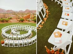 Spiral ceremony setup  Concept: Utah Bride Blog // Photography: Gideon Photography // Event Design & Rentals: Forevermore Events // Flowers: Blossom Sweet