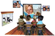 """""""Author Visits? A Remote Possibility: Using Skype to connect is fun and affordable"""" Feb 2012 tech feature read aloud, author visit, skype author"""