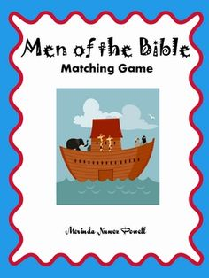 Men of the Bible Matching Game, freebie