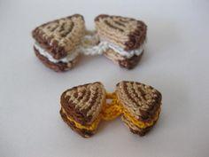 Grilled Cheese - free pattern free pattern, cake sachet, crochet patterns