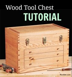 Making an American Chestnut Wood Tool Chest. www.rockler.com Woodworking Tools