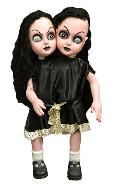 Two headed #Goth sisters prop