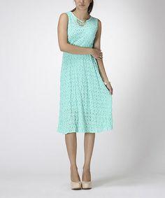 Look at this #zulilyfind! Mint Knit Sleeveless Midi Dress by Carapace #zulilyfinds