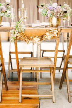 Golden Leaf chair decor