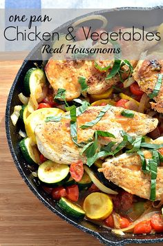 One Pan Chicken and Vegetables | Real Housemoms | This is a super easy and tasty dinner that my family LOVES!