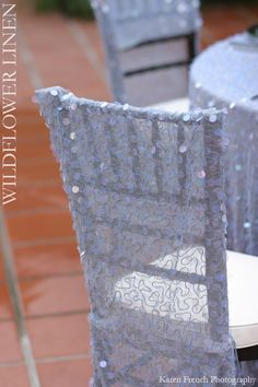 Sparkly chair covers