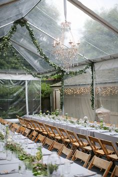Wedding Tent! Would be amazing for a fall wedding? ... Love the clear tent idea