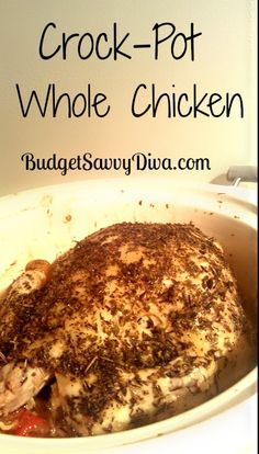 Crock-Pot Whole Chicken Recipe