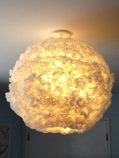 Coffee Filter Light Fixture megancampbelldesigns.com