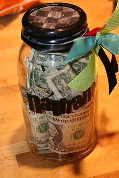 Money jar as a  present ...