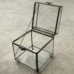 Image of glass keepsake box