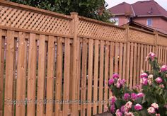 Lattice Topped Fence