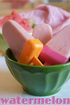 Watermelon Frozen Yogurt Popsicles