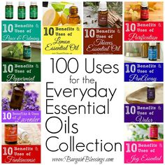 100 Uses for the Everyday Essential Oils Collection! These oils are simply amazing! #essentialoils #naturalliving
