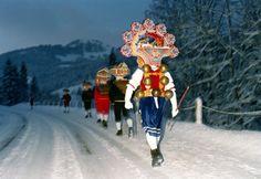On January 13th, the Silvesterkläuse start at the break of dawn, Urnäsch.