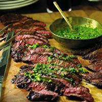 Grilled Skirt Steak with Roasted Jalapeño Chimichurri by Ted Allen