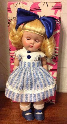 Vintage Vogue Ginny Donna Doll Blonde Hair Original Box Great Stored Condition
