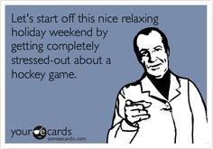 If only there was a hockey game to stress about.