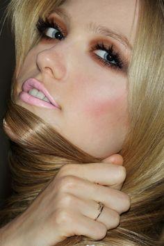 eyeshadow and lipstick