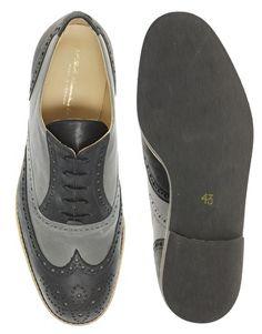 T+F Slack - Two-Tone Brogue Shoes