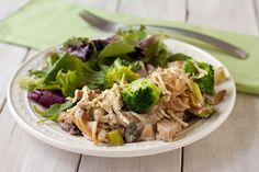 "Creamy ""chicken"" and broccoli casserole by Recipe Renovator | Gluten-free & vegan"