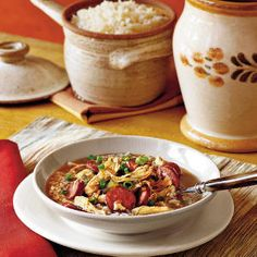 Host a Mardi Gras Party   Chicken-and-Sausage Gumbo   SouthernLiving.com