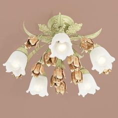 "A pretty addition to your ceiling for Valentine's day. Parisian Flower Semi-Flushmount 22"" Wide Ceiling Light"
