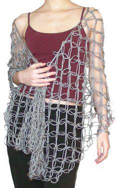 Crochet Knot Stitch Shawl : Xale on Pinterest Crochet Shawl, Shawl and Shawl Patterns