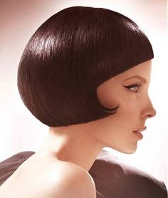 love a strong bob with hard lines. I love the clean fringe. 1960's