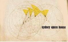 Original Competition Entry Cover Image - Sydney Opera House. Image © Jørn Utzon / Courtesy of Bibliodyssey