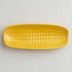 One of my favorite discoveries at WorldMarket.com: Ceramic Corn Plate