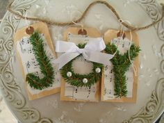 Tag idea for gifts or stockings...could use different colored pipe cleaners for letters