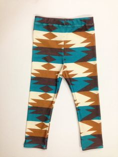 Sweet Kiddo Navajo leggings, organic baby leggings, hipster kids on Etsy, $32.00