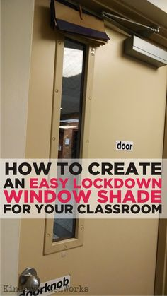 I have a door like this:  A must! :Easy How to Make a Lockdown Shade for Your Classroom.