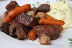 Slow Cooker Beef Bourguignon and Simply Mashed Yukon Golds